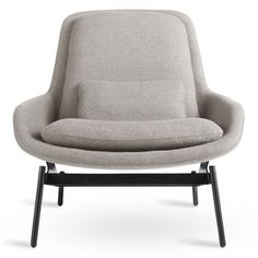 The Blu Dot Field Lounge Chair's shapely curves, soft recline, and simple cushions are perfect for relaxing after work. Modern color choices with powder-coated steel give this choice a contemporary feel. Also available: