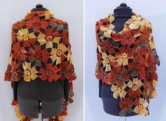 Crochet Shawls: Crochet Pattern Of Flowers Wrap Shawl - Amazing