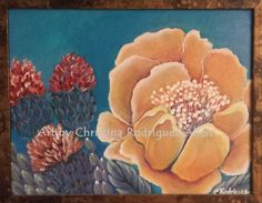 More Freakin Flowers by C.Rodriguez Allen acrylic on canvas. I find that I paint more flowers than anything else.  These were based on a photo I found of cactus flowers.  I have many photos taken in Arizona from 2011.  If you are an artist, your photography will reflect what you find interesting and can become some of your best paintings.