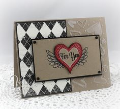 Black White and For You by Vervegirl - Cards and Paper Crafts at Splitcoaststampers