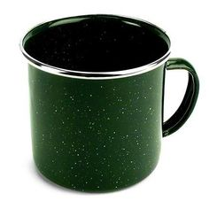 This baked enamelware cup is rugged and easy to clean--great for cabin or camp. Available at REI, Satisfaction Guaranteed. Camping Cups, Camping Dishes, Camping Coffee, Camping Glamping, Luxury Camping, Camping Cooking, Camping Trailers, Camping Life, Lodge Cast Iron Skillet
