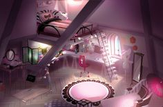 2D view of Marionette's full bedroom from the official Tumblr site.