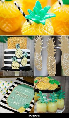 If you really love something, why not celebrate it? That's exactly what baker extraordinaire Jenny Keller did when she planned her pineapple-themed birthday party. The juicy fruit made an appearance on everything imaginable — from decorative desserts to festive cups, plates, and invitations.