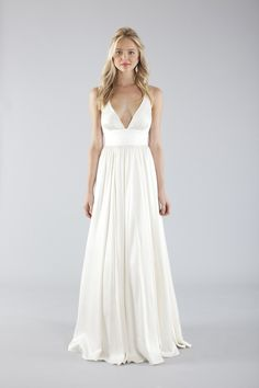 Nicole Miller. Beautiful Destination wedding dress. Love the simplicity and the silhouette.