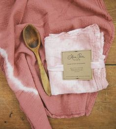 Flour Sack Shibori dishtowels: Flora Poste Studio