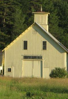 yellow barns | Pale Yellow Barn | SHADE: CRÈME AU BEURRE | Pinterest