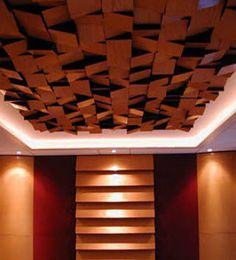 Foam sound absorption panel (for ceilings) by Akustar