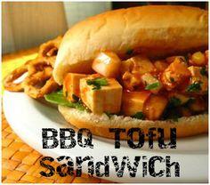 Cheap Vegan Eats: BBQ Tofu Sandwich  #vegan #sandwich #recipe #yummy