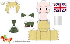 Papercraft Templates | Hetalia England Papercraft by tsunyandere on deviantART