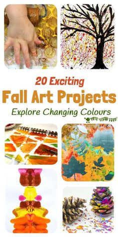 FANTASTIC FALL ART IDEAS FOR KIDS - 20  fun Fall art projects you won't want to miss! Explore Autumn colours in new and exciting ways. With these interesting Autumn painting ideas you'll never look at red, orange and yellow paint the same way again! #kidscraftroom #kidsart #Fallart #Autumnart #Fallcrafts #Autumncrafts #painting #kidscrafts Autumn Activities For Kids, Fall Crafts For Kids, Art Activities, Art For Kids, Autumn Art Ideas For Kids, Kids Diy, Autumn Painting, Yellow Painting, Fall Art Projects