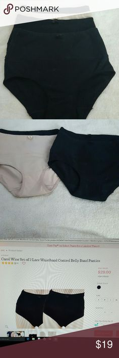 Bundle of 4 Carol Wior Belly Band Panties 4 pristine belly band panties in cotton /spandex without the lace. Worn once, hand washed. These hold you in without any muffin top or rolling. I paid 15.00 each pair for these. Carol Wior  Intimates & Sleepwear Panties