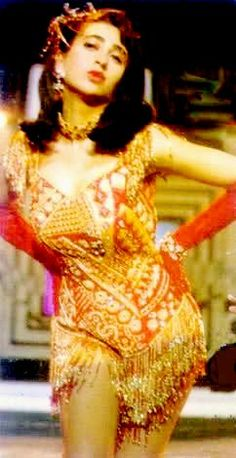 "Karishma in her popular & controversial ""sexy-sexy-sexy mujhe"" dance track from ""Khuddar"" {1994 }"
