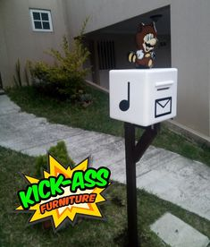 Buzon Mario Bros Tanooki,   #kickassfurniture #kickassfurnitureguatemala #coolmailbox #buzon #mariobros #mariobrostanooki #mariobrosfan #mariobrosdecor Mario Bros., Mailbox, Photo And Video, Outdoor Decor, Furniture, Instagram, Home Decor, Mail Drop Box, Post Box