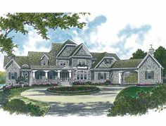 Shingle House Plan with 8173 Square Feet and 4 Bedrooms(s) from Dream Home Source | House Plan Code DHSW15867