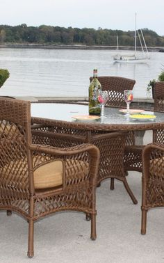 Our outdoor wicker furniture collection includes resin wicker dining sets and bar stools. Enhance any room with wicker outdoor furniture or resin wicker furniture. Ratan Furniture, Resin Wicker Furniture, Cane Furniture, Primitive Furniture, Dining Furniture, Outdoor Furniture Sets, Outdoor Decor, Wicker Dining Set, Dinning Set