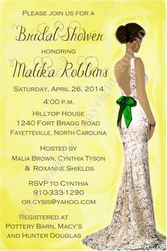 casual flower yellow african american wedding invites ewi112, Wedding invitations