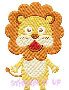 4X4 Mr LionMachine Embroidery Design Multiple by StichinItUp, $2.00
