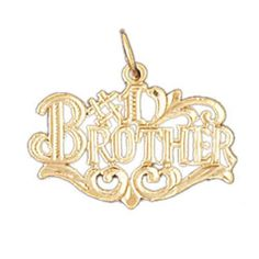 14K GOLD SAYING CHARM - #1 BROTHER #9927