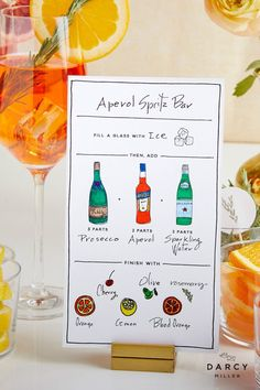 Create your own custom Aperol Spritz Bar for your next girls night, Mother's Day Brunch, Bridal Shower or Baby Shower Italian Party, Italian Night, Baby Shower Cocktails, Aperol Spritz Recipe, Cocktail And Mocktail, Dinner With Friends, Baby Shower Fall, Prosecco, Recipe Cards