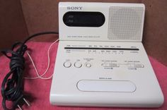 Sony Dual Alarm Digital Clock Radio ICF-C770 - TESTED/WORKS Free Shipping #Sony
