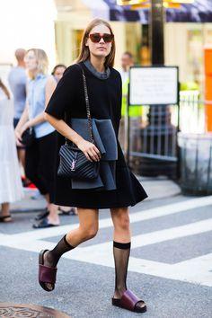 Fashion Week Style: Black Flounce Dress   Le Fashion   Bloglovin'