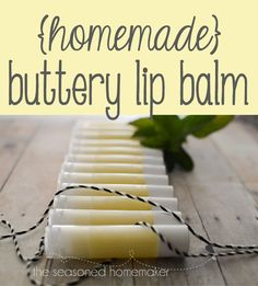 If you have dry lips then you will love this DIY Buttery Lip Balm. It's easy to make and costs less than $0.50.