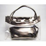 Patent Leather Clear Tote Bag (Silver) (Baby Product)  #MileyCyrus #melaniexeinalem