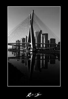Estaiada Bridge, Pinheiros River, 2010 Bridge, Louvre, Travel, Art, Cable Stayed Bridge, Sao Paulo, Drawings, Art Background, Viajes