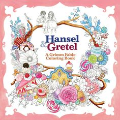 hansel and gretel grimm fable coloring book by Rosa