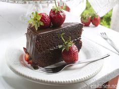 Sjokoladekake med myk nougat- og sjokoladeglasur