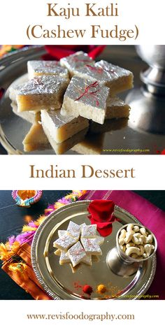 Cashew Fudge - A special occasion Indian dessert perfect to celebrate your Valentine's day.