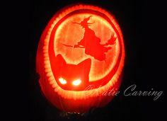 Halloween pumpkin carving, cat and witch Halloween Pumpkins, Pumpkin Carving, Witch, Cat, Halloween Gourds, Cat Breeds, Pumpkin Carvings, Witches, Witch Makeup