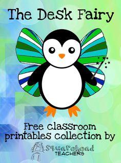 Squarehead Teachers: Desk Fairy Printables (Free!)
