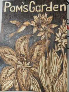 Custom hand made pyrography wood burned garden by REDONEbykpstack, $59.00