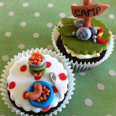 Camp America Camping cupcakes by Daniellerosemakes