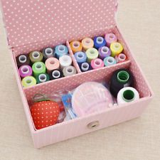 Cute DIY Box Sewing Kit Flower Printed Decor Wedding Party Scissor Thread Tool