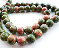 Sage green and rosey pink Ukanite #beads #gemstones #ukanite