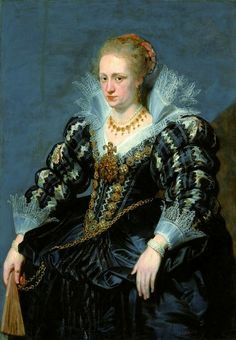 Portrait of Jacqueline de Caestre by Peter Paul Rubens, ca. 1618 (PD-art/old), Muzeum Łazienki Królewskie (MLK)