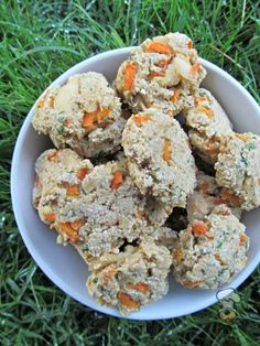 (dairy and wheat-free) carrot ginger chicken dog treat recipe