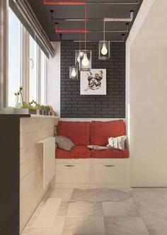 HappyModern.RU | Балкон в стиле лофт: советы по расширению пространства и 70  стильных реализаций | http://happymodern.ru