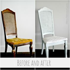 Maison Blanche Paint Chair Upcycle - Vintage Furniture Paint in Sugar Cane - #maisonblanchepaint