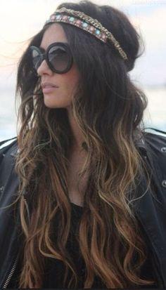 ooolala How To Wear Headbands, Black Blouse, Bohemian, Long Hair Styles, Ideas, Fashion, Moda, Long Hairstyle, Boho