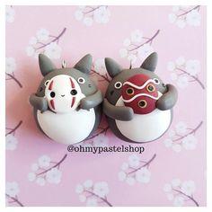 MATCHING gift Kaonashi Totoro Mononoke Studio Ghibli Polymer