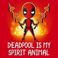 Deadpool is My Spirit Animal - This official Marvel t-shirt featuring Deadpool is only available at TeeTurtle!