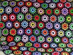 VINTAGE HAND CROCHETED HEXAGON GRANNY SQUARE AFGHAN review at Kaboodle