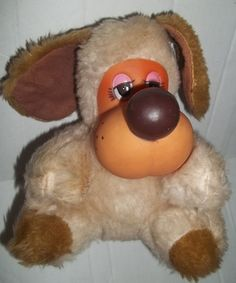 "Lido Dog Puppy Stuffed Animal Plush Plastic Rushton? Face 7.5"" Toy Vintage $99.00"