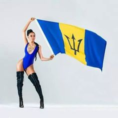 Model Sade Mings Repping the Barbados for Its 48th Independence