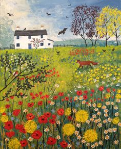'Through the Flower Meadow' - acrylic on a 9 x 12 inch box canvas (SOLD)