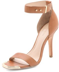 Pour La Victoire Yaya High Heel Sandals in Brown (Cognac)
