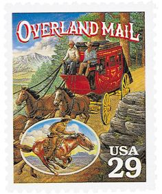 In 1857, Congress took action and directed the Postmaster General to accept bids for establishing an overland mail service. A year later the Butterfield Overland Mail Company opened a regular service between St. Louis, Missouri and a jubilant California. The trip was a jolting 25-day ordeal that traveled 2,800 miles through the burning desert – home to the hostile Apache Indians.